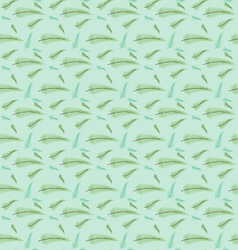 Seamless leaf pattern set vector image