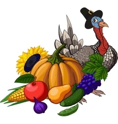 Thanksgiving still life vector image