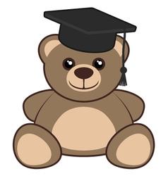 University bear vector image