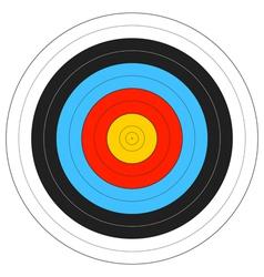 Archery Target vector image vector image