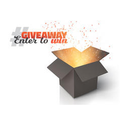 box giveaway competition template vector image vector image