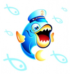 captain fish vector image