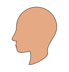 human head silhouette vector image vector image
