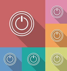 Icon of power button Flat style vector image