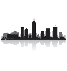 Indianapolis USA city skyline silhouette vector image vector image