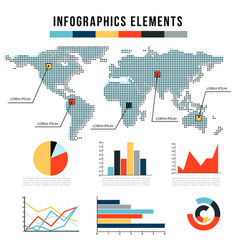 modern infographics elements set of graphs vector image