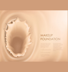 poster with texture of splash of liquid foundation vector image vector image