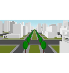 street in a modern city vector image vector image