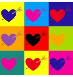 Arrow heart icon vector image vector image