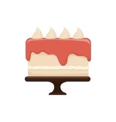 delicious sweet cake birthday vector image vector image