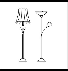 Floor lamps for house vector