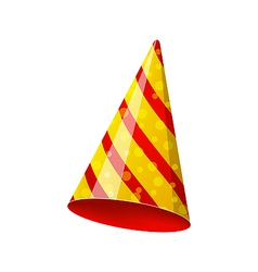 Party striped hat isolated on white background vector image