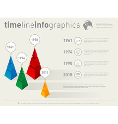 Timeline infographics with icons design template vector image vector image