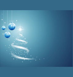 christmas balls and stars background with blizzard vector image