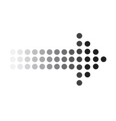 dots arrow icon on white background dots arrow vector image vector image