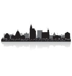 Jackson USA city skyline silhouette vector image