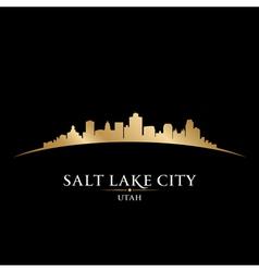 Salt Lake city Utah skyline silhouette vector image vector image