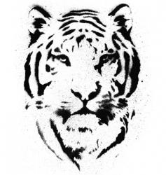 tiger stencil vector vector image