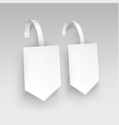 white square arrow paper plastic price wobbler vector image vector image