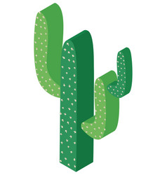 3d design for green cactus plant vector image