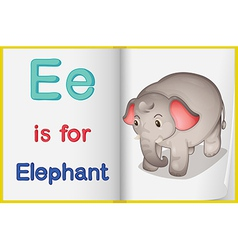 A picture of an elephant in book vector