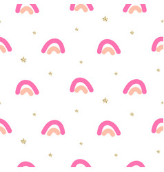 Abstract cute rainbow seamless pattern vector