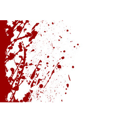 Abstract paint splatter red color background vector