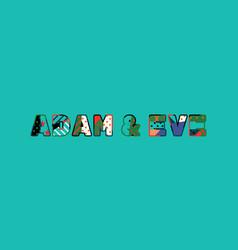 Adam eve concept word art vector