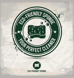Alternative eco friendly sponge stamp vector
