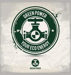 Alternative green power stamp vector