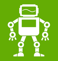 automatic mechanism icon green vector image
