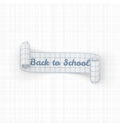 Back to School paper festive Ribbon vector image