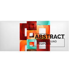 background with color squares composition modern vector image