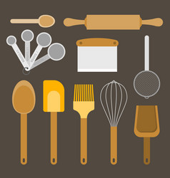 Bakery equipment and utensils vector
