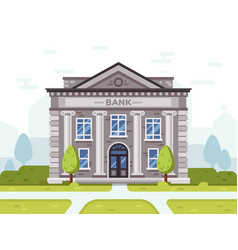 bank or goverment building architecture business vector image