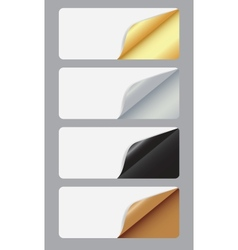Banners with different corner and place for your vector
