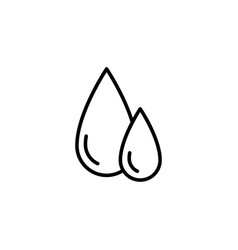 blood drops icon on white background vector image