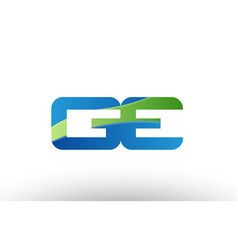 Blue green ge g e alphabet letter logo vector