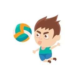 Boy Sportsman Playing Volleyball Part Of Child vector image