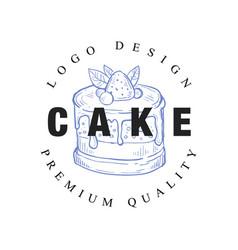 Cake logo original design premium quality retro vector