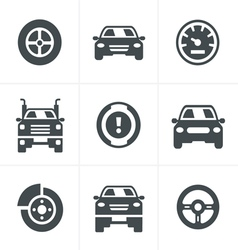 Car Icons Set Design vector image vector image