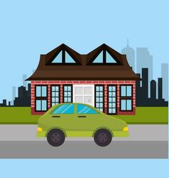 Car vehicle auto icon vector