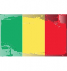 chad national flag vector image