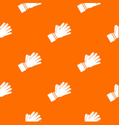 clapping applauding hands pattern seamless vector image