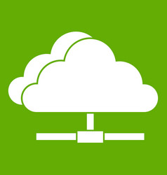 cloud computing connection icon green vector image