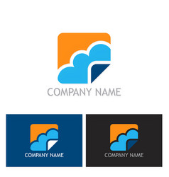 Cloud icon logo vector