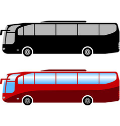 coach bus simple vector image