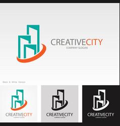 creative building cityscape logo vector image