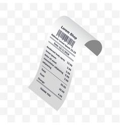 deodorant body spray receipt printed vector image
