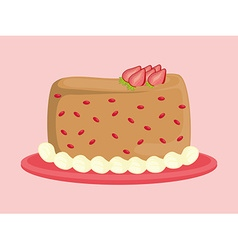 Dessert cake design vector image